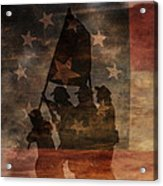 Battle Flag Silhouette 1st Of Three Acrylic Print by Randy Steele