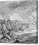 Battle Of Lexington, April 19th 1775, From Recueil Destampes By Nicholas Ponce, Engraved Acrylic Print