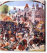 Battle Of Nevilles Cross 1346 Acrylic Print