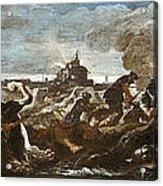 Battle Of Saint-quentin Acrylic Print