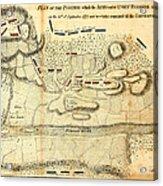 Battle Of Saratoga Acrylic Print