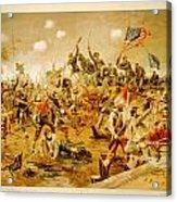 Battle Of Spotsylvania Thure De Thulstrup Acrylic Print