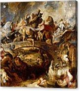 Battle Of The Amazons Acrylic Print