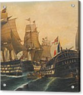 Battle Of Trafalgar Acrylic Print