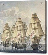 Battle Of Trafalgar Acrylic Print by Robert Dodd