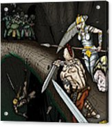 Battle On The Stone Bridge Acrylic Print