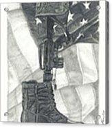 Battlefield Cross Acrylic Print