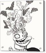 Batty Acrylic Print by Richard Moore