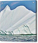 Batwing Iceberg In Saint Anthony Bay-newfoundland-canada  Acrylic Print