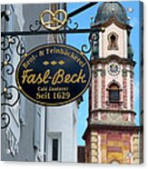Bavarian Bakery Sign  Acrylic Print