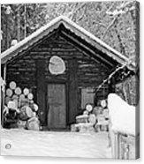 Bavarian Hut In Snow Acrylic Print