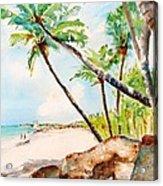 Bavaro Tropical Sandy Beach Acrylic Print
