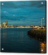 Bay And City At Night Acrylic Print