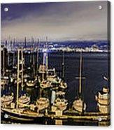 Bay Bridge East Span With Yachts Acrylic Print