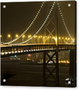 Bay Bridge Fog Acrylic Print