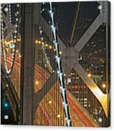 Bay Bridge Night Colors Acrylic Print