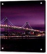 Bay Bridge Purple Haze Acrylic Print
