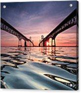 Bay Bridge Reflections Acrylic Print by Jennifer Casey