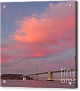 Bay Bridge Sunset Acrylic Print
