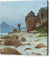 Bay Of Monterey Acrylic Print by Albert Bierstadt