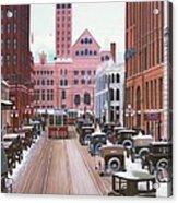 Bay Street Christmas Eve 1924 Acrylic Print