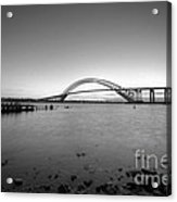 Bayonne Bridge Long Exposure Bw Acrylic Print