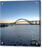Bayonne Bridge Longe Exposure Sunset Acrylic Print