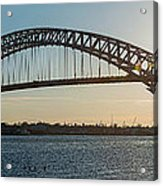 Bayonne Bridge Panoram Sunset Acrylic Print