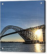 Bayonne Bridge Sunburst Acrylic Print