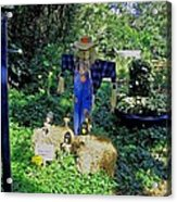 Bayou Crow Scarecrow At Bellingrath Gardens Acrylic Print