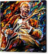 Bb King - Palette Knife Oil Painting On Canvas By Leonid Afremov Acrylic Print