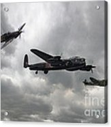 Bbmf Lancaster Spitfire Hurricane Acrylic Print