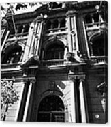 bbva bank huerfanos street city branch Santiago Chile Acrylic Print