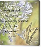 Be Grateful Acrylic Print