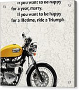 Be Happy Triumph Acrylic Print