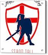 Be Proud To Be English Happy St George Day Poster Acrylic Print