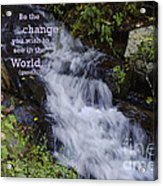 Be The Change Acrylic Print