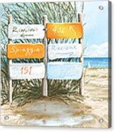 Beach 151 Acrylic Print