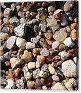 Beach Agates Acrylic Print by Carol Groenen