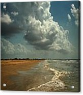 Beach And Clouds Acrylic Print