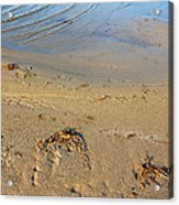 Beach And Rippled Water. Acrylic Print