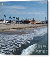 Beach At Santa Cruz Acrylic Print