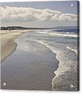 Beach At Santa Monica Acrylic Print