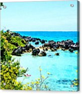 Beach At St. George Bermuda Acrylic Print