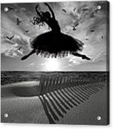 Beach Ballerina Acrylic Print by Nina Bradica