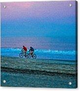Beach Biking  Acrylic Print