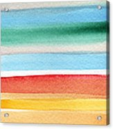 Beach Blanket- Colorful Abstract Painting Acrylic Print