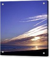 Beach Blue Sunset Acrylic Print