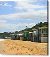 Beach Boxes Mornington Acrylic Print