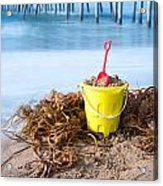 Beach Bucket In Sand Acrylic Print